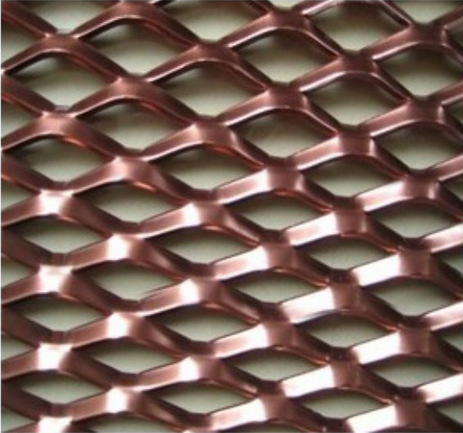 PVC Coated Expanded Metal Cladding, Diamond Opening