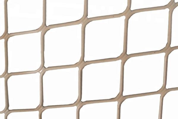 Beige color powder coated aluminum security mesh